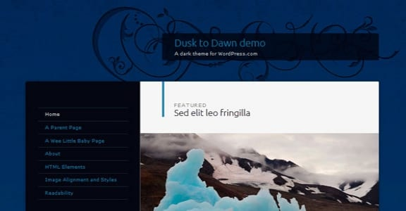 Шаблон Wordpress - Dusk to Dawn