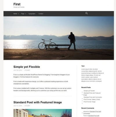 Шаблон WordPress - First