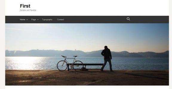 Шаблон Wordpress - First