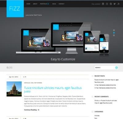 Шаблон WordPress - Fizz