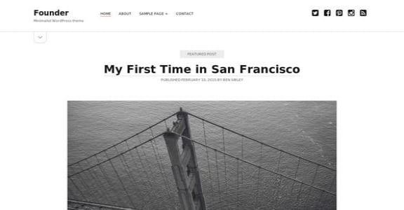 Шаблон Wordpress - Founder