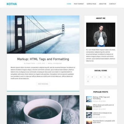 Шаблон WordPress - Kotha