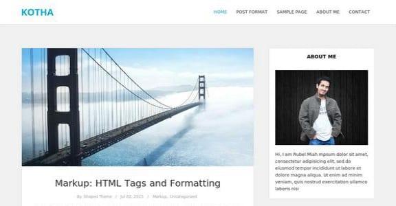 Шаблон Wordpress - Kotha