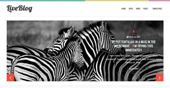 Шаблон Wordpress - LiveBlog