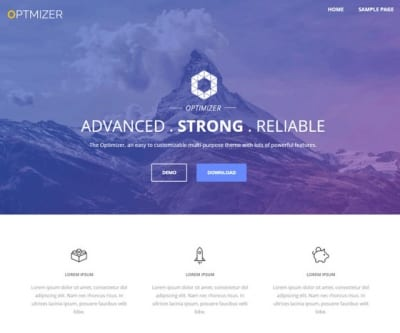 Шаблон WordPress - Optimizer