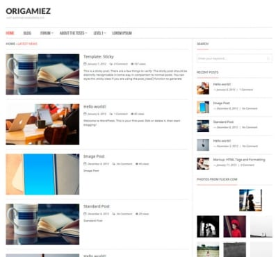 Шаблон WordPress - Origamiez