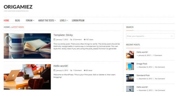 Шаблон Wordpress - Origamiez