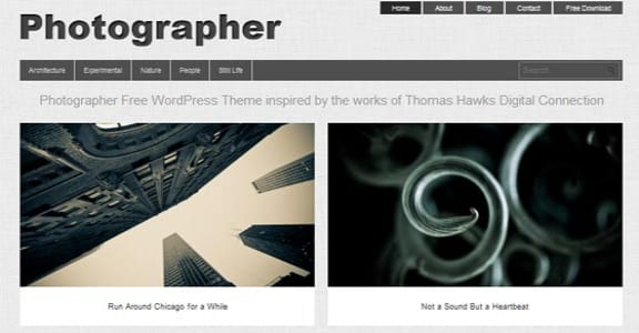 Шаблон Wordpress - Photographer