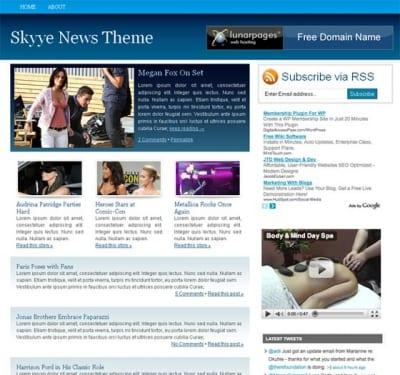 Шаблон WordPress - Skyye News