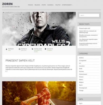 Шаблон WordPress - Zoren