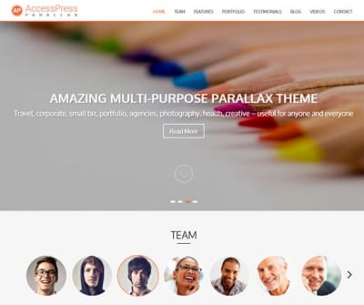 Шаблон WordPress - AccessPress Parallax