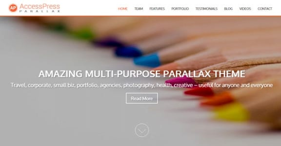Шаблон Wordpress - AccessPress Parallax