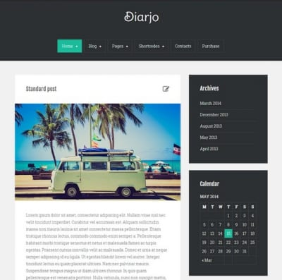 Шаблон WordPress - Diarjo lite
