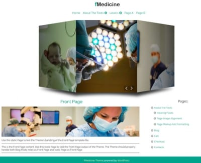 Шаблон WordPress - fMedicine