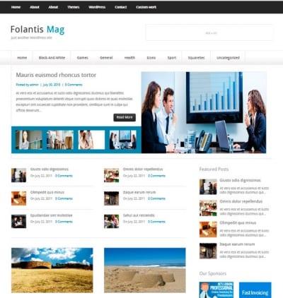 Шаблон WordPress - FolantisMag