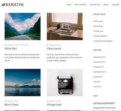Шаблон WordPress - Keratin