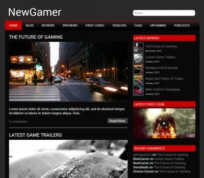 Шаблон WordPress - NewGamer