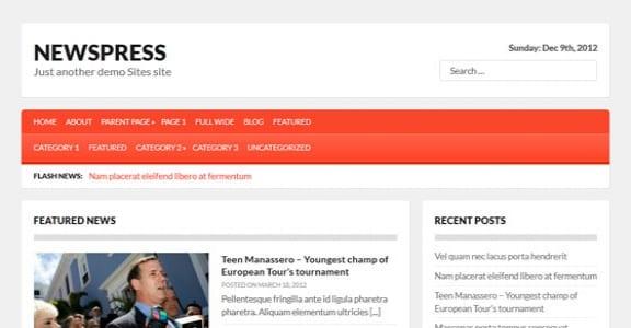 Шаблон Wordpress - Newspress