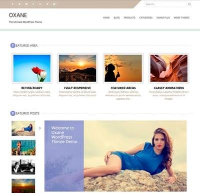 Шаблон WordPress - Oxane