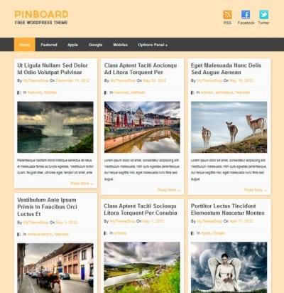 Шаблон WordPress - Pinboard