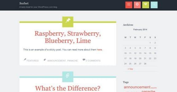 Шаблон Wordpress - Sorbet
