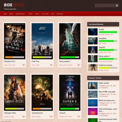 Шаблон WordPress - Boxoffice