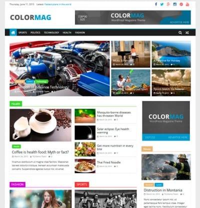 Шаблон WordPress - ColorMag