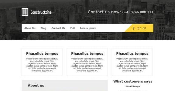 Шаблон Wordpress - Constructzine Lite