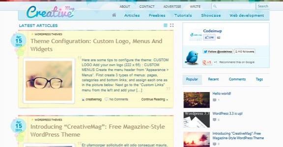Шаблон Wordpress - CreativeMag