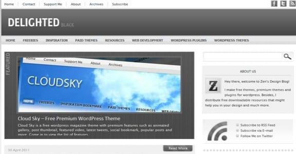 Шаблон Wordpress - Delighted Black