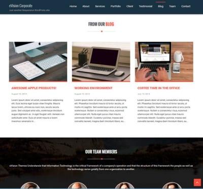 Шаблон WordPress - eVision Corporate