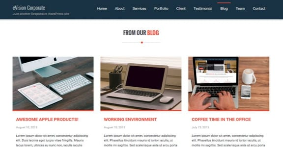 Шаблон Wordpress - eVision Corporate