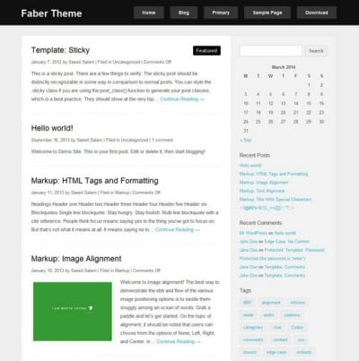 Шаблон WordPress - Faber