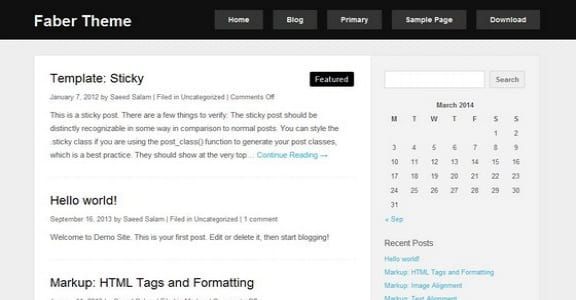Шаблон Wordpress - Faber