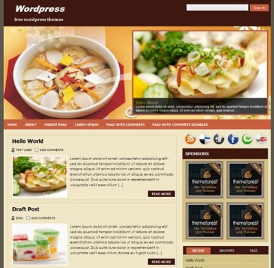 Шаблон WordPress - FoodPress