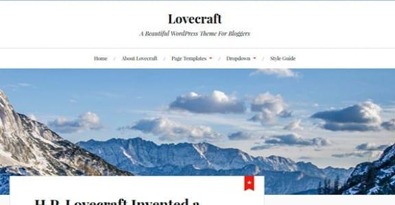 Шаблон Wordpress - Lovecraft