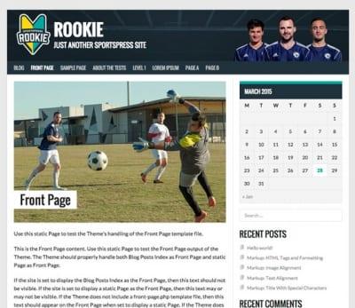 Шаблон WordPress - Rookie