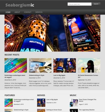 Шаблон WordPress - Seaborgiumic