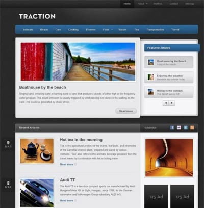 Шаблон WordPress - Traction