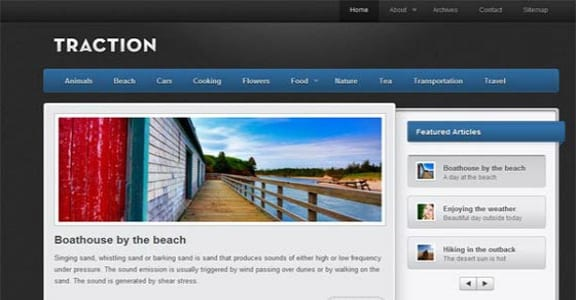 Шаблон Wordpress - Traction