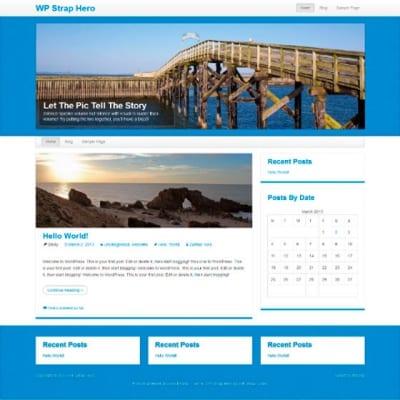 Шаблон WordPress - WP StrapHero