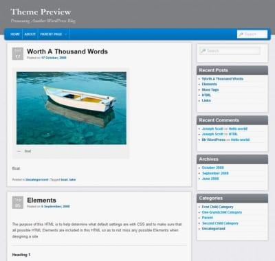 Шаблон WordPress - Admired