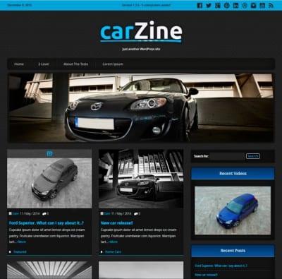 Шаблон WordPress - CarZine
