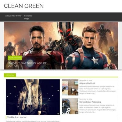 Шаблон WordPress - Clean Green
