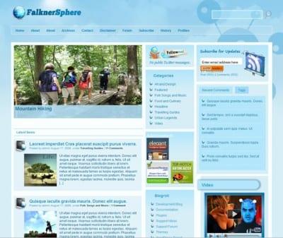 Шаблон WordPress - Falkner Sphere
