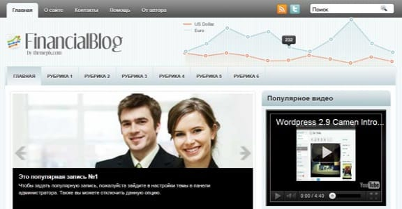 Шаблон Wordpress - FinancialBlog