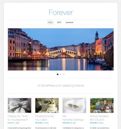 Шаблон WordPress - Forever