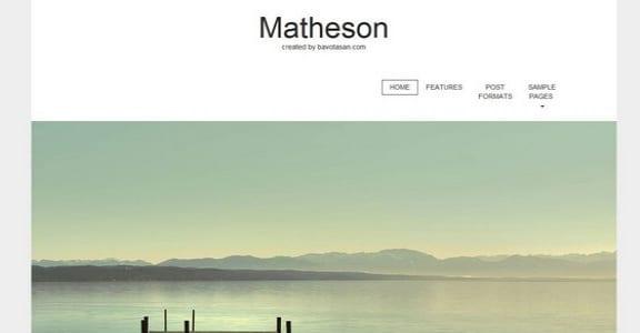Шаблон Wordpress - Matheson