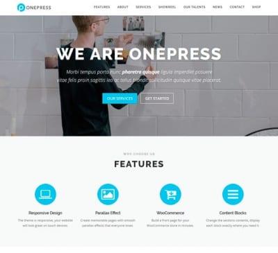Шаблон WordPress - OnePress