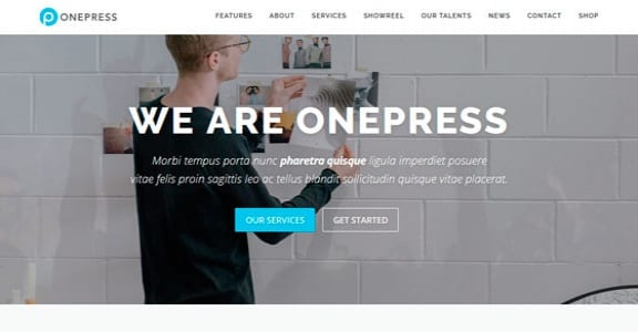 Шаблон Wordpress - OnePress